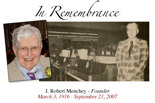 In remembrance photo of J. Robert Menchey.