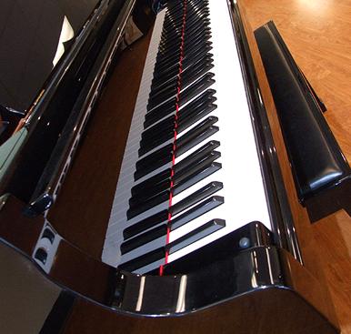 Keys on a Yamaha piano