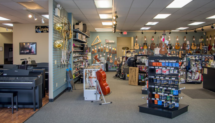 View of entire Lancaster store displays.