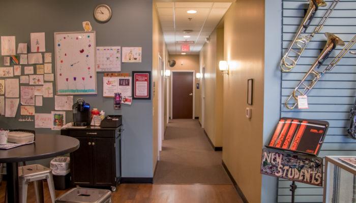 Entry into lesson studio area.