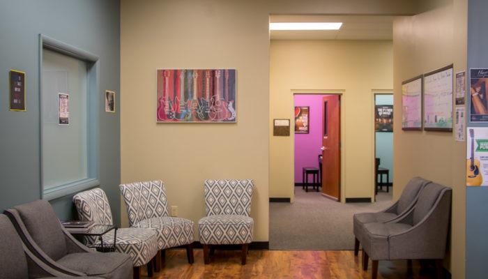 Lesson studio waiting room.