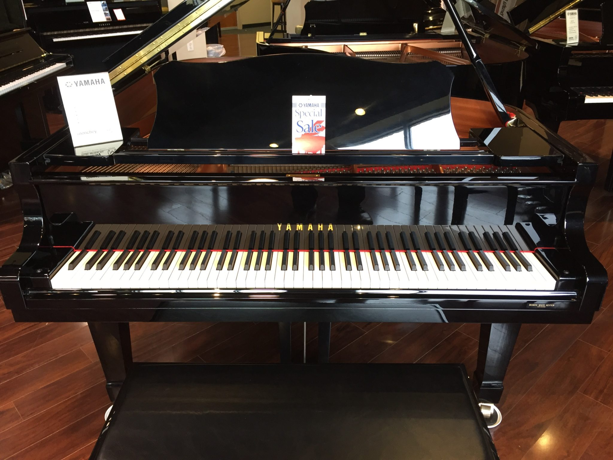 Yamaha model c3 6 39 1 grand piano menchey music for Price of a yamaha baby grand piano