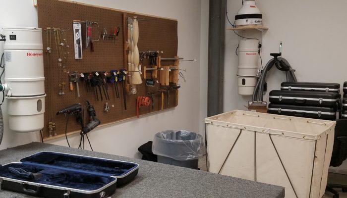 Selection of repair tools used for string instrument repair.
