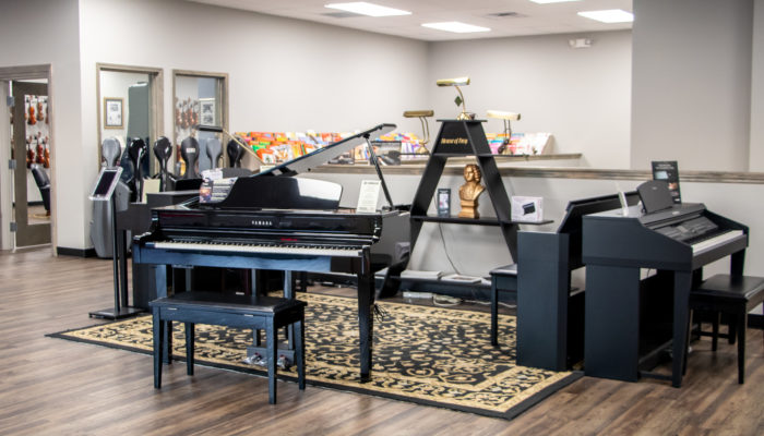 Yamaha Claviova digital pianos.