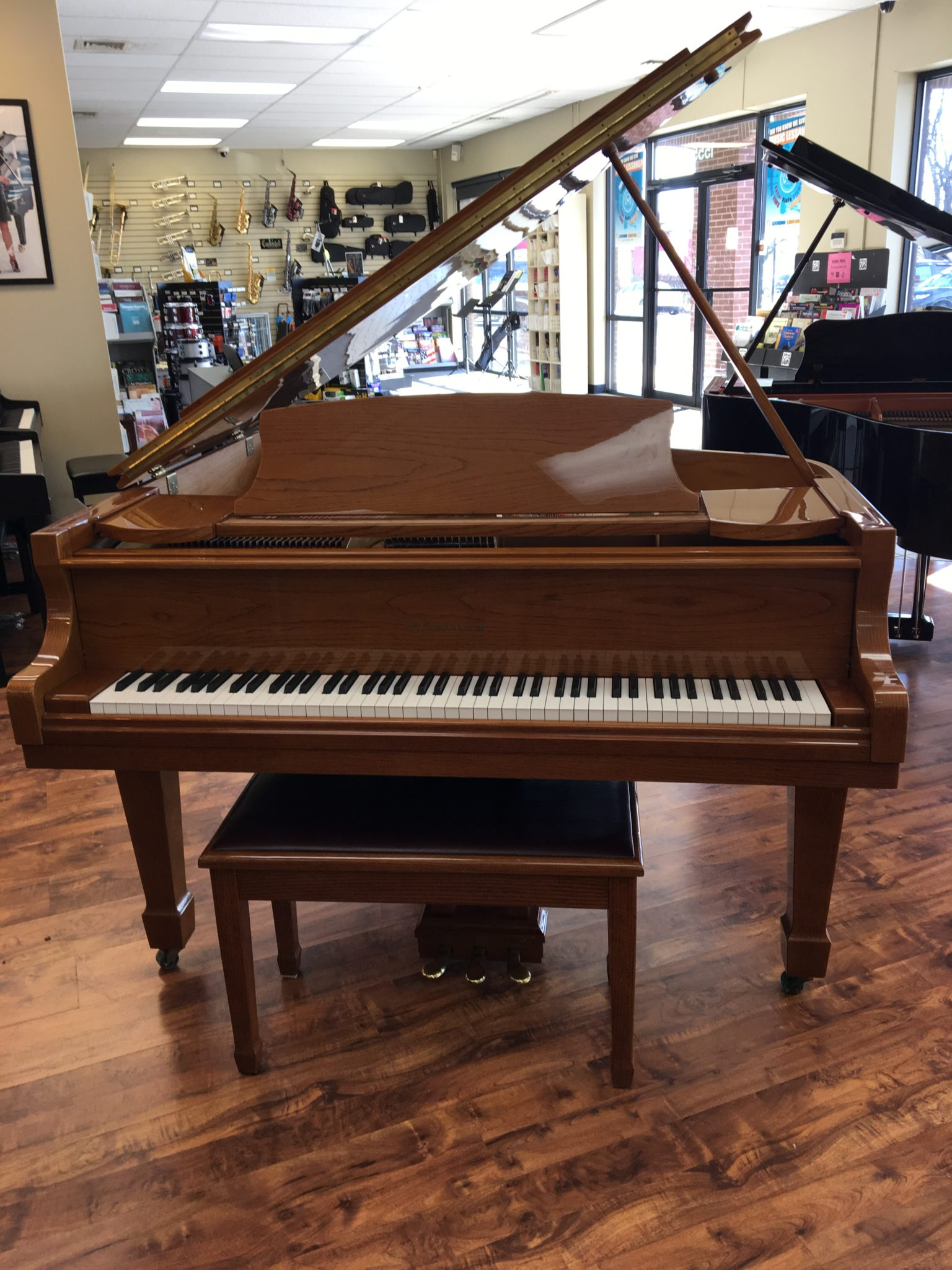 Beautiful Used Samick Baby Grand Piano for Sale | Menchey Music