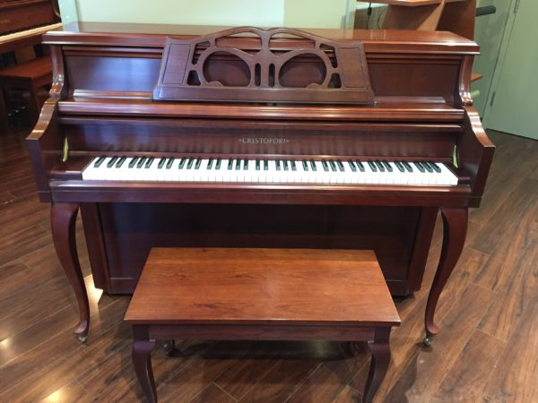 Cristofori 44″ Cherry Console Piano – Model CRV445F
