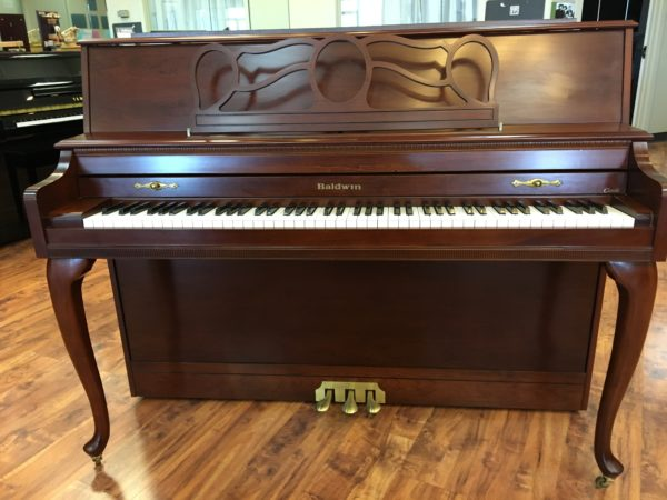 Baldwin Console Piano – Model 662E, Cherry – 44″ (SOLD)