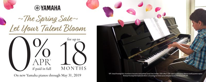 Yamaha Spring Bloom Piano Sale 2019