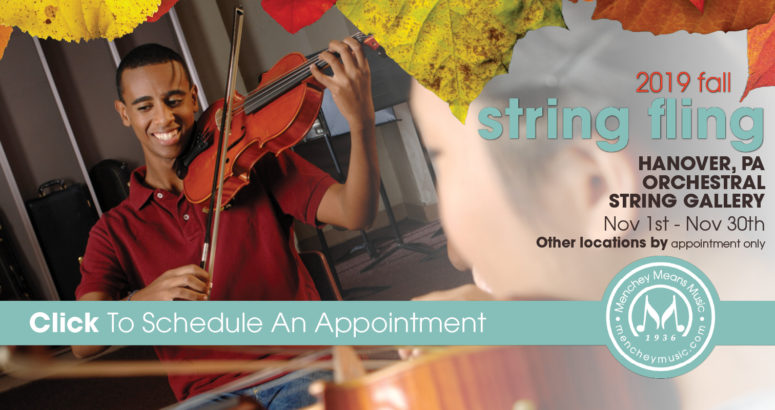 Student with a Violin on the Left with String Fling on the right.