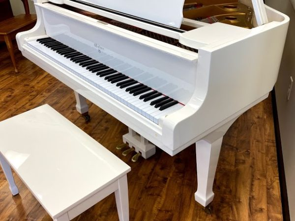 "Weber – Model WG-50 (White) – 4'11"" grand piano"