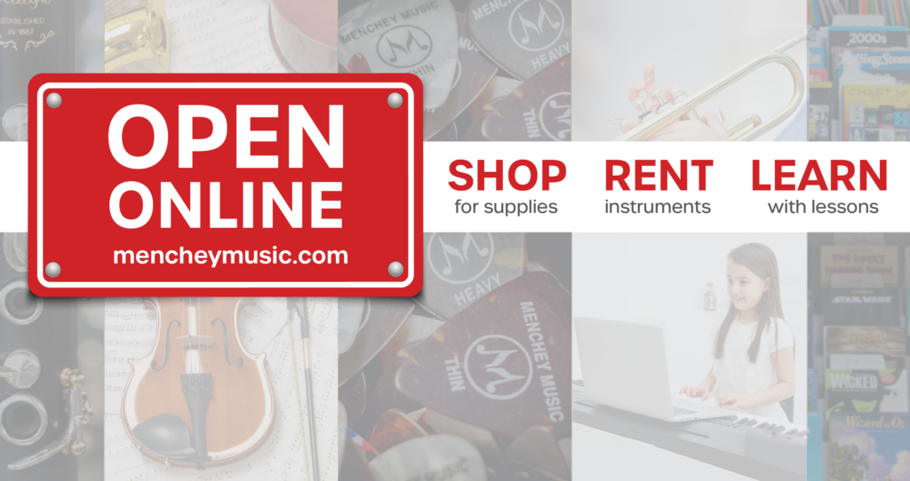 Menchey is open online and has online lessons.