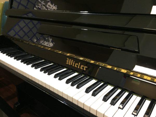 Wieler – 43″ upright piano – polished ebony finish w/bench ($999) ***SOLD***